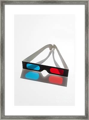 3d Glasses Framed Print by Juan  Silva