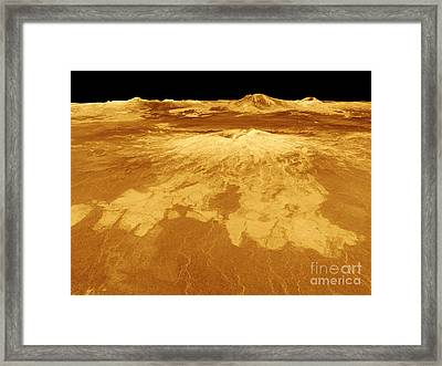 3d Perspective View Of Sapas Mons Framed Print