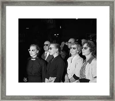 3d Tv Glasses Framed Print by Walter Bellamy