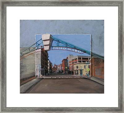 3rd Ward Entry Layered Framed Print by Anita Burgermeister