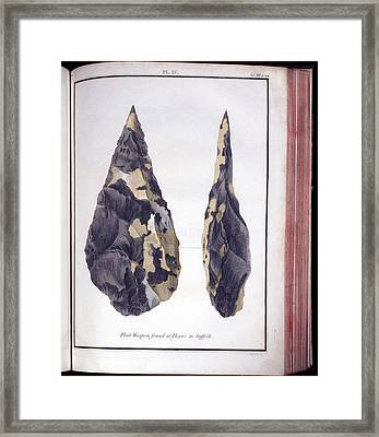 1797 First Handaxe John Frere Of Hoxne 1 Framed Print