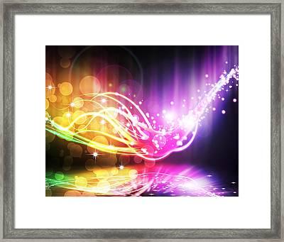 Abstract Lighting Effect  Framed Print by Setsiri Silapasuwanchai