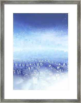 Alien Planet, Artwork Framed Print by Victor Habbick Visions