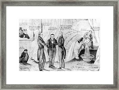 Andrew Jackson Cartoon Framed Print by Granger