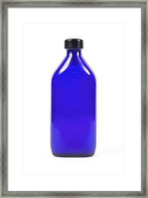 Antique Medicine Bottle Framed Print by Gregory Davies, Medinet Photographics
