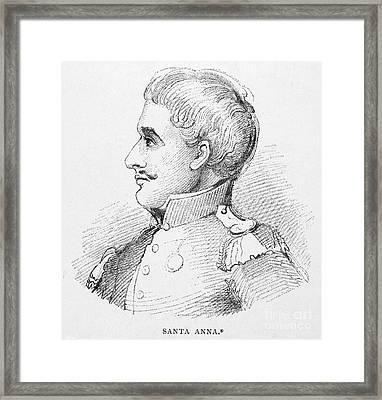 Antonio Lopez De Santa Anna Framed Print by Granger