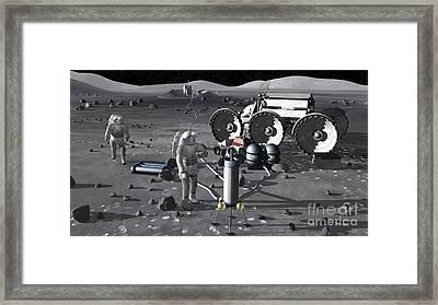 Artists Rendering Of Future Space Framed Print by Stocktrek Images