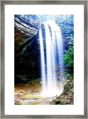 Ash Cave Waterfall Framed Print by Thomas R Fletcher