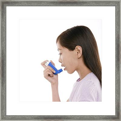 Asthma Treatment Framed Print by