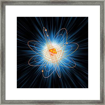 Atomic Structure, Artwork Framed Print by Mehau Kulyk