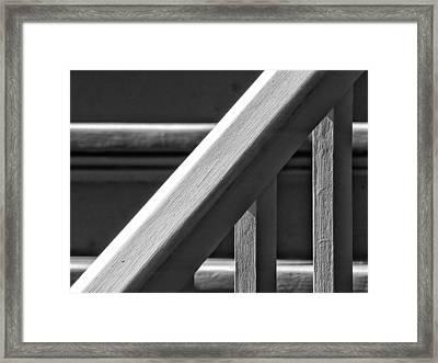 Bannister Framed Print by Robert Ullmann