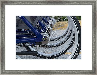 Bicycles Framed Print by Blink Images