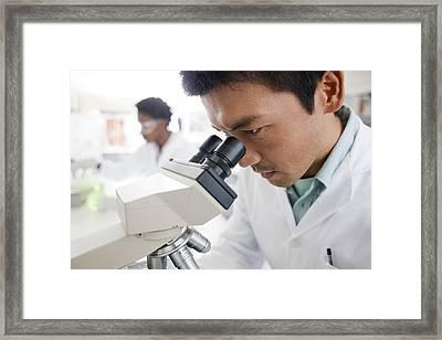 Biologists Framed Print by