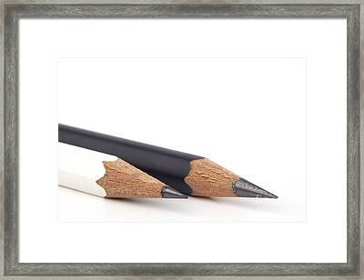 Black And White Pencils Framed Print