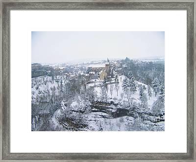 Bozouls Winter Framed Print