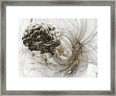 Brain Research, Conceptual Artwork Framed Print