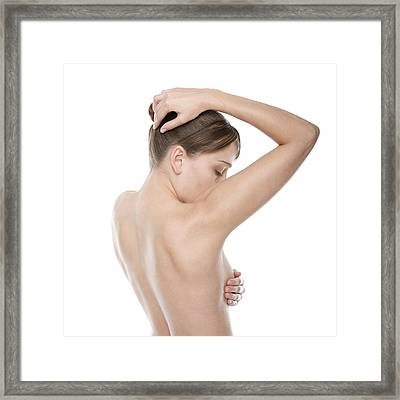 Breast Self-examination Framed Print by