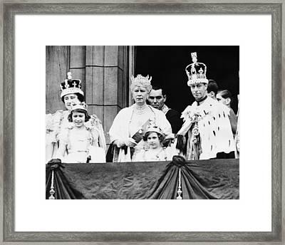 British Royal Family. From Left British Framed Print