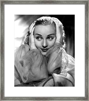 Carole Lombard, Portrait Framed Print by Everett