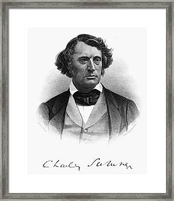 Charles Sumner (1811-1874) Framed Print by Granger