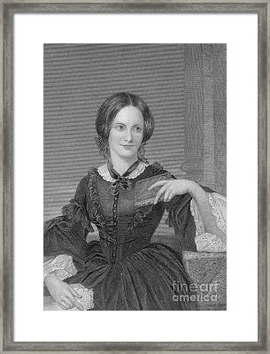 Charlotte Bronte, English Author Framed Print by Photo Researchers