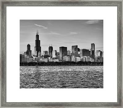 Chicago Skyline Framed Print by Donald Schwartz
