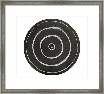 Chladni Oscillations On Metal Plate Framed Print by Ted Kinsman