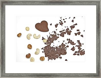 Chocolate Heart Framed Print