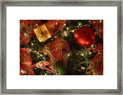 Christmas Ornaments Framed Print by Lonnie Moore