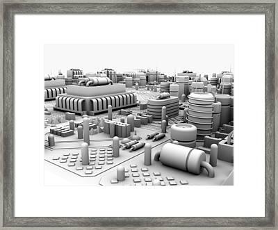 Circuit Board, Artwork Framed Print