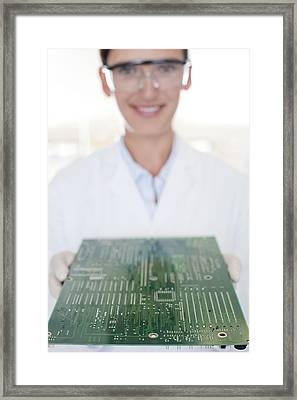 Circuit Board Manufacture Framed Print by