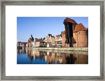City Of Gdansk Framed Print by Artur Bogacki