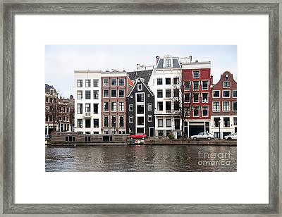 City Scenes From Amsterdam Framed Print by Carol Ailles