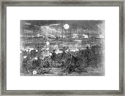 Civil War: Gettysburg Framed Print by Granger