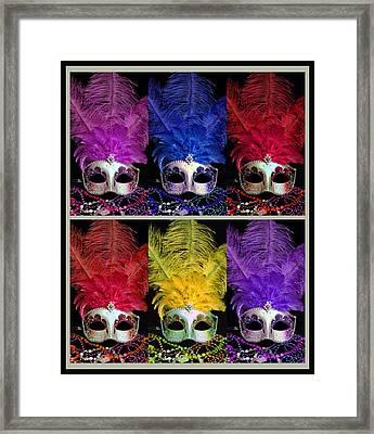 Colorful Mardi Gras Masks Framed Print