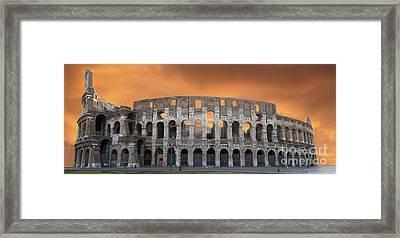 Colosseum. Rome Framed Print by Bernard Jaubert