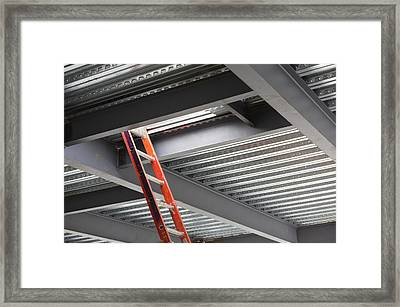 Commercial Building Under Construction Framed Print