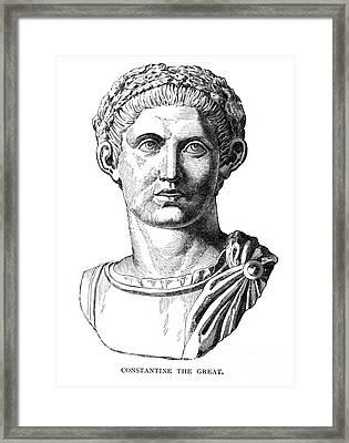Constantine I (d. 337) Framed Print by Granger