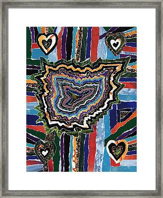 4 Corners Of Love  2  And 1 Is Mia Framed Print