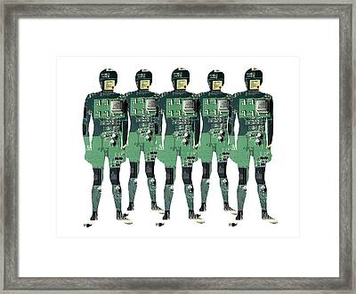 Cybernetics And Robotics Framed Print by Victor De Schwanberg