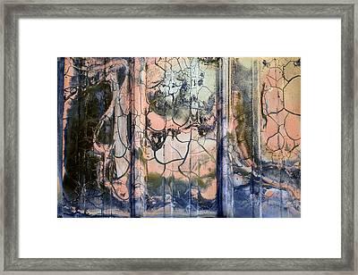 Detail Of Burnt Building Framed Print by David Chapman