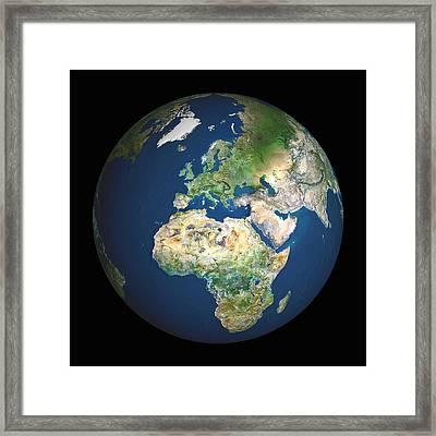 Earth Framed Print by Planetobserver