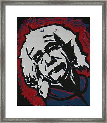Einstein 2 Framed Print by William Cauthern