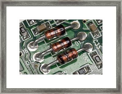 Electronics Board Framed Print by Ted Kinsman