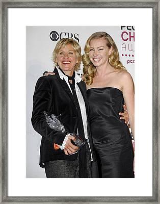 Ellen Degeneres, Portia De Rossi Framed Print