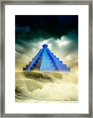 End Of The World In 2012 Conceptual Image Framed Print by Victor Habbick Visions