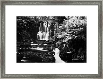 Ess-na-crub Waterfall On The Inver River In Glenariff Forest Park County Antrim Northern Ireland Uk Framed Print