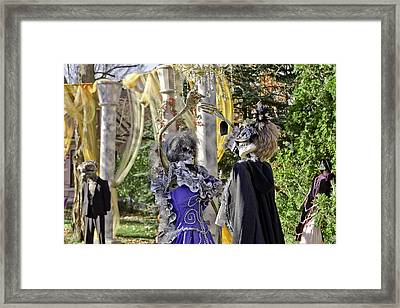 Fall  Halloween On Tillson Street Framed Print by LeeAnn McLaneGoetz McLaneGoetzStudioLLCcom