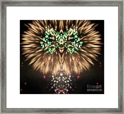 Firework Framed Print by Odon Czintos