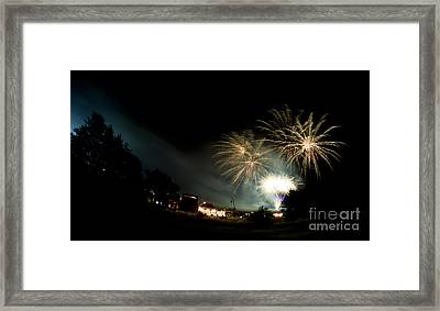 Fireworks Framed Print by Angel Ciesniarska